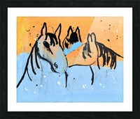 Horses.Davey K. Picture Frame print