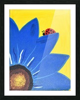 Blue Lady Bug. Maggie Z Picture Frame print