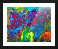 Abstract Flowers. Marielle A Picture Frame print