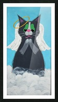 Angel Cat. Heather S. Picture Frame print