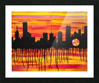Melting City. Maggie Z Picture Frame print