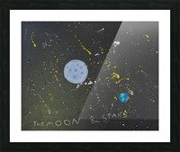 Moon and Stars. David R Picture Frame print