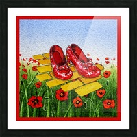 Ruby Slippers Yellow Brick Road Red Poppies Field Picture Frame print