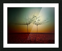 Fire and water Picture Frame print
