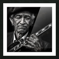 the guitarist Picture Frame print