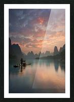 Li River Sunrise Picture Frame print