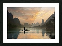 Golden Li River Picture Frame print