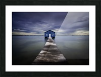 The Blue Boatshed Picture Frame print