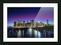 New York Sky Line Picture Frame print