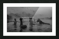 hot  natural  spa  time Picture Frame print