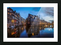 Blue Amsterdam Picture Frame print
