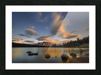 Two Jack Lake Sunset Picture Frame print