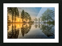 Mount Fuji reflected in Lake , Japan Picture Frame print