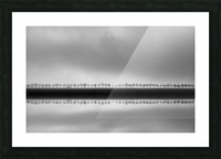 Polderlandscape in reflection Picture Frame print