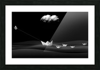Paper Boats Picture Frame print