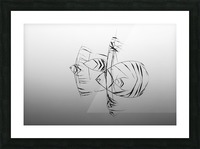 Angelfishes Picture Frame print