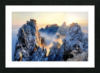 Sunrise at Mt. Huang Shan Picture Frame print