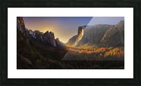 Yosemite Firefall Picture Frame print