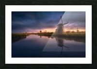Kinderdijk Windmills Picture Frame print