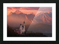 Red morning above the castle Picture Frame print