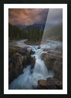 Sunwapta Falls Picture Frame print