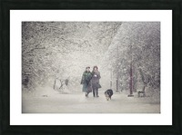 Snow storm charm Picture Frame print