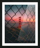 Golden Gate Caged Impression et Cadre photo