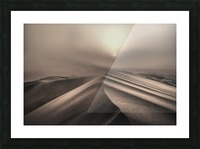 The perfect sandstorm Picture Frame print