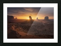 Monument Sunrise. Picture Frame print