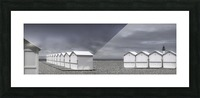 cabins beach Picture Frame print