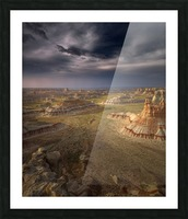 Storm in the distance Picture Frame print