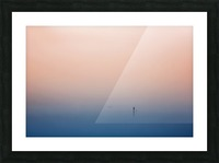 stand up paddling Picture Frame print