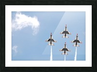 Falcon Formation Picture Frame print