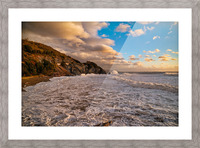 Raging Seas Picture Frame print