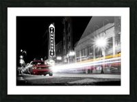 Tennessee Theater Monochrome Picture Frame print