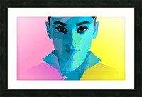 Pop Art Audrey Portrait Picture Frame print