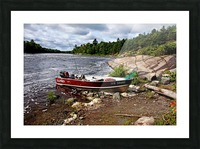 Fishing And Exploring Picture Frame print