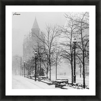 Gooderham in Winter Picture Frame print