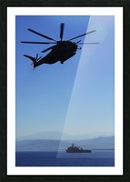 A CH-53E Super Stallion helicopter. Picture Frame print