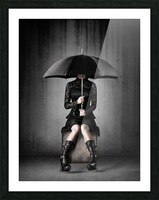 Black Rain Picture Frame print