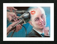 Secret Kiss By Krzysztof Grzondziel Picture Frame print