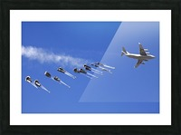 A C-17 Globemaster ejects a supply load of pallets during Operation Koranai Permakhtag. Picture Frame print