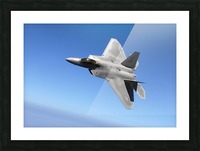 An F-A-22 Raptor banks during a training sortie. Picture Frame print