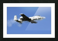 An A-10 Thunderbolt II pilot fires the planes 30-mm cannon. Picture Frame print