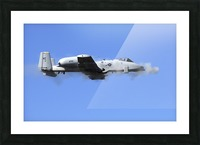 A pilot in an A-10 Thunderbolt II fires the planes 30-mm cannon. Picture Frame print