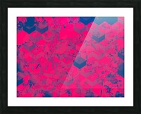 geometric square pattern abstract in pink blue Picture Frame print