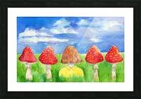 Mushroom Girl  Picture Frame print