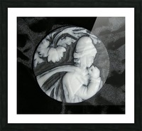 Cameo glass disc  Picture Frame print