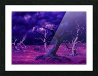 PURPLE FOREST Picture Frame print