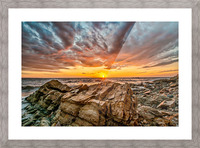 Rocks and Sunset Picture Frame print